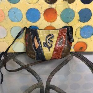 Vintage 90s sharif leather crossbody purse